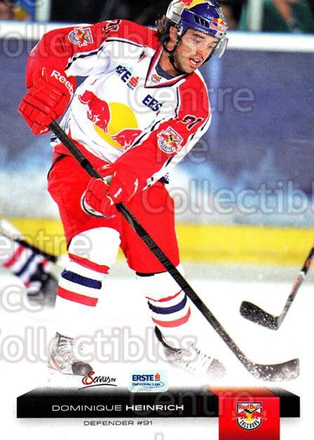 2012-13 Erste Bank Eishockey Liga EBEL #100 Dominique Heinrich<br/>6 In Stock - $2.00 each - <a href=https://centericecollectibles.foxycart.com/cart?name=2012-13%20Erste%20Bank%20Eishockey%20Liga%20EBEL%20%23100%20Dominique%20Heinr...&quantity_max=6&price=$2.00&code=480373 class=foxycart> Buy it now! </a>