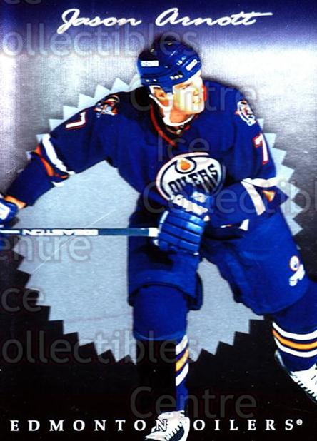 1996-97 Donruss Elite #46 Jason Arnott<br/>9 In Stock - $1.00 each - <a href=https://centericecollectibles.foxycart.com/cart?name=1996-97%20Donruss%20Elite%20%2346%20Jason%20Arnott...&quantity_max=9&price=$1.00&code=48039 class=foxycart> Buy it now! </a>