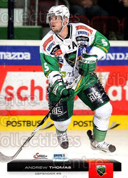2012-13 Erste Bank Eishockey Liga EBEL #129 Andrew Thomas<br/>5 In Stock - $2.00 each - <a href=https://centericecollectibles.foxycart.com/cart?name=2012-13%20Erste%20Bank%20Eishockey%20Liga%20EBEL%20%23129%20Andrew%20Thomas...&quantity_max=5&price=$2.00&code=480402 class=foxycart> Buy it now! </a>