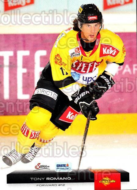 2012-13 Erste Bank Eishockey Liga EBEL #176 Tony Romano<br/>4 In Stock - $2.00 each - <a href=https://centericecollectibles.foxycart.com/cart?name=2012-13%20Erste%20Bank%20Eishockey%20Liga%20EBEL%20%23176%20Tony%20Romano...&quantity_max=4&price=$2.00&code=480449 class=foxycart> Buy it now! </a>