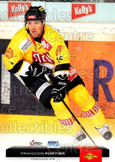 2012-13 Erste Bank Eishockey Liga EBEL #180 Francois Fortier<br/>6 In Stock - $2.00 each - <a href=https://centericecollectibles.foxycart.com/cart?name=2012-13%20Erste%20Bank%20Eishockey%20Liga%20EBEL%20%23180%20Francois%20Fortie...&quantity_max=6&price=$2.00&code=480453 class=foxycart> Buy it now! </a>