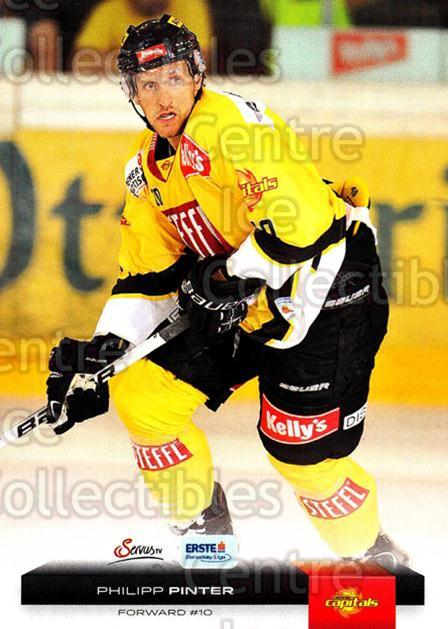 2012-13 Erste Bank Eishockey Liga EBEL #184 Philipp Pinter<br/>6 In Stock - $2.00 each - <a href=https://centericecollectibles.foxycart.com/cart?name=2012-13%20Erste%20Bank%20Eishockey%20Liga%20EBEL%20%23184%20Philipp%20Pinter...&quantity_max=6&price=$2.00&code=480457 class=foxycart> Buy it now! </a>