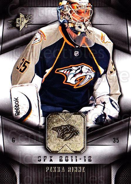 2011-12 Spx #44 Pekka Rinne<br/>4 In Stock - $1.00 each - <a href=https://centericecollectibles.foxycart.com/cart?name=2011-12%20Spx%20%2344%20Pekka%20Rinne...&quantity_max=4&price=$1.00&code=480644 class=foxycart> Buy it now! </a>