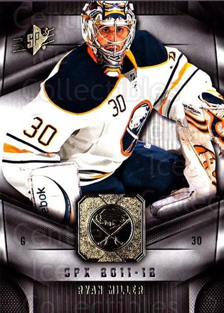 2011-12 Spx #89 Ryan Miller<br/>5 In Stock - $1.00 each - <a href=https://centericecollectibles.foxycart.com/cart?name=2011-12%20Spx%20%2389%20Ryan%20Miller...&quantity_max=5&price=$1.00&code=480689 class=foxycart> Buy it now! </a>