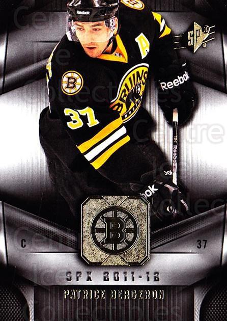 2011-12 Spx #93 Patrice Bergeron<br/>2 In Stock - $2.00 each - <a href=https://centericecollectibles.foxycart.com/cart?name=2011-12%20Spx%20%2393%20Patrice%20Bergero...&quantity_max=2&price=$2.00&code=480693 class=foxycart> Buy it now! </a>