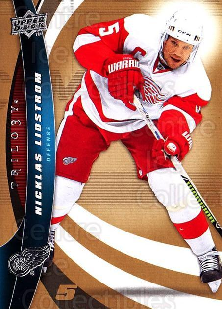 2009-10 UD Trilogy #5 Nicklas Lidstrom<br/>2 In Stock - $1.00 each - <a href=https://centericecollectibles.foxycart.com/cart?name=2009-10%20UD%20Trilogy%20%235%20Nicklas%20Lidstro...&quantity_max=2&price=$1.00&code=480930 class=foxycart> Buy it now! </a>