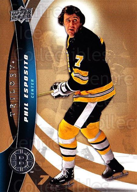 2009-10 UD Trilogy #7 Phil Esposito<br/>1 In Stock - $2.00 each - <a href=https://centericecollectibles.foxycart.com/cart?name=2009-10%20UD%20Trilogy%20%237%20Phil%20Esposito...&quantity_max=1&price=$2.00&code=480932 class=foxycart> Buy it now! </a>
