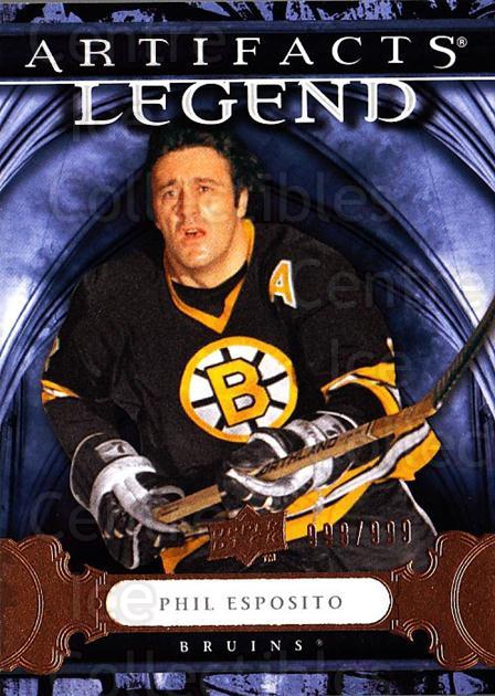 2009-10 UD Artifacts #124 Phil Esposito<br/>1 In Stock - $3.00 each - <a href=https://centericecollectibles.foxycart.com/cart?name=2009-10%20UD%20Artifacts%20%23124%20Phil%20Esposito...&quantity_max=1&price=$3.00&code=481119 class=foxycart> Buy it now! </a>