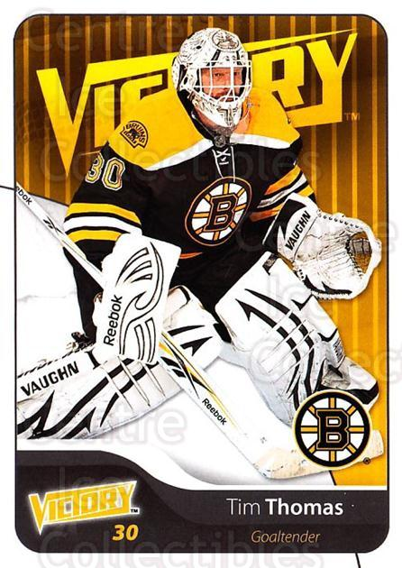 2011-12 UD Victory #19 Tim Thomas<br/>1 In Stock - $1.00 each - <a href=https://centericecollectibles.foxycart.com/cart?name=2011-12%20UD%20Victory%20%2319%20Tim%20Thomas...&quantity_max=1&price=$1.00&code=481256 class=foxycart> Buy it now! </a>