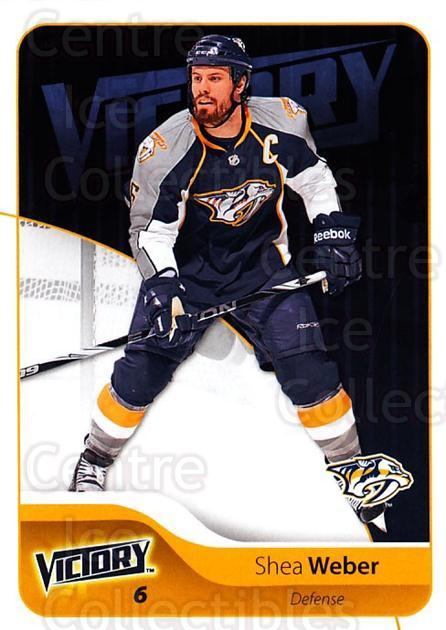 2011-12 UD Victory #106 Shea Weber<br/>3 In Stock - $1.00 each - <a href=https://centericecollectibles.foxycart.com/cart?name=2011-12%20UD%20Victory%20%23106%20Shea%20Weber...&quantity_max=3&price=$1.00&code=481343 class=foxycart> Buy it now! </a>