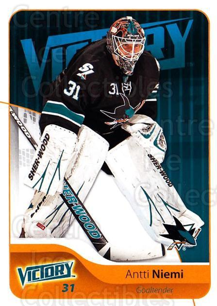 2011-12 UD Victory #162 Antti Niemi<br/>4 In Stock - $1.00 each - <a href=https://centericecollectibles.foxycart.com/cart?name=2011-12%20UD%20Victory%20%23162%20Antti%20Niemi...&quantity_max=4&price=$1.00&code=481399 class=foxycart> Buy it now! </a>