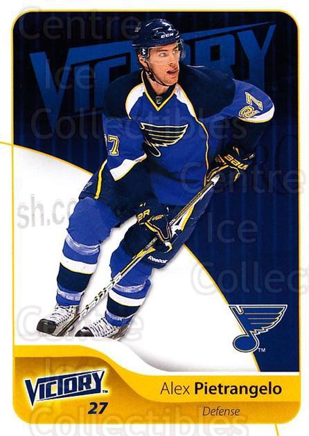 2011-12 UD Victory #163 Alex Pietrangelo<br/>4 In Stock - $1.00 each - <a href=https://centericecollectibles.foxycart.com/cart?name=2011-12%20UD%20Victory%20%23163%20Alex%20Pietrangel...&quantity_max=4&price=$1.00&code=481400 class=foxycart> Buy it now! </a>