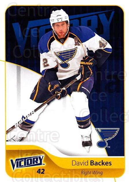 2011-12 UD Victory #165 David Backes<br/>4 In Stock - $1.00 each - <a href=https://centericecollectibles.foxycart.com/cart?name=2011-12%20UD%20Victory%20%23165%20David%20Backes...&quantity_max=4&price=$1.00&code=481402 class=foxycart> Buy it now! </a>