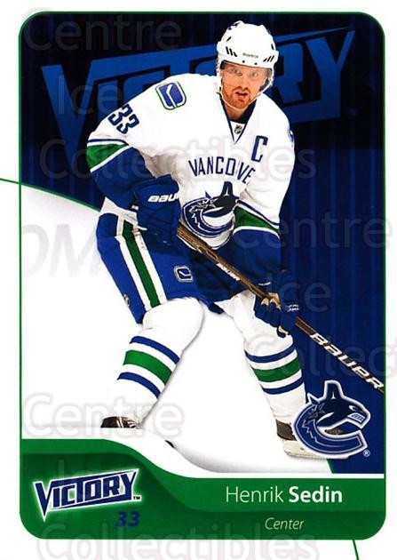 2011-12 UD Victory #185 Henrik Sedin<br/>3 In Stock - $2.00 each - <a href=https://centericecollectibles.foxycart.com/cart?name=2011-12%20UD%20Victory%20%23185%20Henrik%20Sedin...&quantity_max=3&price=$2.00&code=481422 class=foxycart> Buy it now! </a>