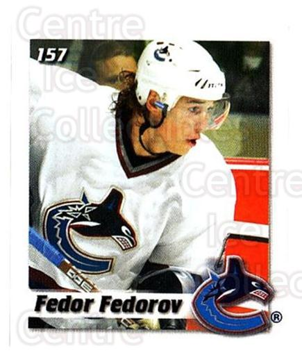 2002-03 NHL Power Play Stickers #157 Fedor Fedorov<br/>5 In Stock - $2.00 each - <a href=https://centericecollectibles.foxycart.com/cart?name=2002-03%20NHL%20Power%20Play%20Stickers%20%23157%20Fedor%20Fedorov...&quantity_max=5&price=$2.00&code=481666 class=foxycart> Buy it now! </a>