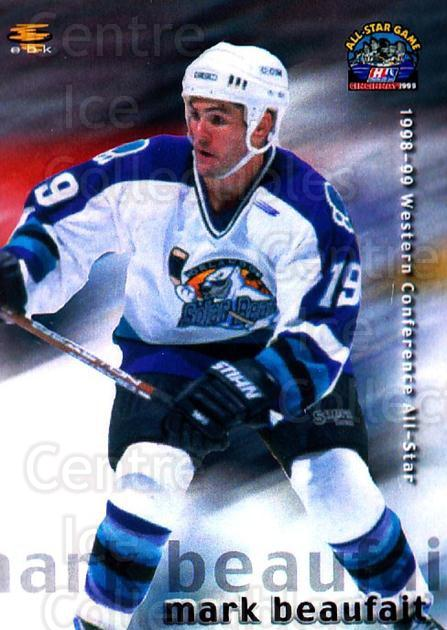 1998-99 IHL AS Eastern Conference #18 Mark Beaufait<br/>2 In Stock - $3.00 each - <a href=https://centericecollectibles.foxycart.com/cart?name=1998-99%20IHL%20AS%20Eastern%20Conference%20%2318%20Mark%20Beaufait...&quantity_max=2&price=$3.00&code=481693 class=foxycart> Buy it now! </a>