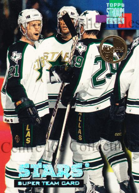 1994-95 Stadium Club Super Teams Members Only #6 Paul Broten, Trent Klatt, Mike Modano<br/>3 In Stock - $5.00 each - <a href=https://centericecollectibles.foxycart.com/cart?name=1994-95%20Stadium%20Club%20Super%20Teams%20Members%20Only%20%236%20Paul%20Broten,%20Tr...&quantity_max=3&price=$5.00&code=481711 class=foxycart> Buy it now! </a>