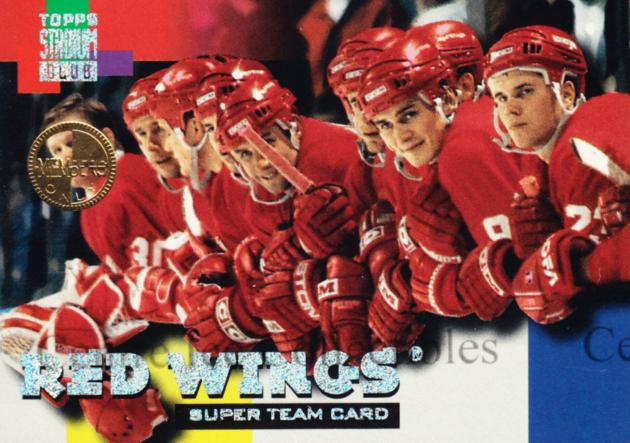 1994-95 Stadium Club Super Teams Members Only #7 Sergei Fedorov, Ray Sheppard, Greg Johnson, Chris Osgood<br/>1 In Stock - $5.00 each - <a href=https://centericecollectibles.foxycart.com/cart?name=1994-95%20Stadium%20Club%20Super%20Teams%20Members%20Only%20%237%20Sergei%20Fedorov,...&quantity_max=1&price=$5.00&code=481712 class=foxycart> Buy it now! </a>