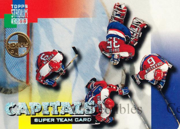 1994-95 Stadium Club Super Teams Members Only #25 Dave Poulin, Calle Johansson, Kevin Hatcher, Byron Dafoe<br/>2 In Stock - $5.00 each - <a href=https://centericecollectibles.foxycart.com/cart?name=1994-95%20Stadium%20Club%20Super%20Teams%20Members%20Only%20%2325%20Dave%20Poulin,%20Ca...&quantity_max=2&price=$5.00&code=481723 class=foxycart> Buy it now! </a>