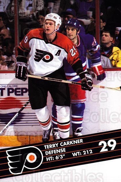 1991-92 Philadelphia Flyers Postcards JC Penny #4 Terry Carkner<br/>1 In Stock - $3.00 each - <a href=https://centericecollectibles.foxycart.com/cart?name=1991-92%20Philadelphia%20Flyers%20Postcards%20JC%20Penny%20%234%20Terry%20Carkner...&quantity_max=1&price=$3.00&code=481753 class=foxycart> Buy it now! </a>