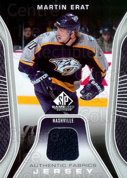 2006-07 SP Game Used Authentic Fabrics #AFME Martin Erat<br/>1 In Stock - $5.00 each - <a href=https://centericecollectibles.foxycart.com/cart?name=2006-07%20SP%20Game%20Used%20Authentic%20Fabrics%20%23AFME%20Martin%20Erat...&quantity_max=1&price=$5.00&code=481874 class=foxycart> Buy it now! </a>
