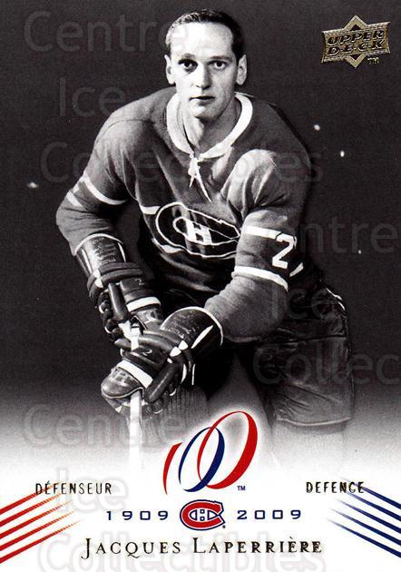 2008-09 Upper Deck Montreal Canadiens Centennial #21 Jacques Laperriere<br/>4 In Stock - $2.00 each - <a href=https://centericecollectibles.foxycart.com/cart?name=2008-09%20Upper%20Deck%20Montreal%20Canadiens%20Centennial%20%2321%20Jacques%20Laperri...&quantity_max=4&price=$2.00&code=482962 class=foxycart> Buy it now! </a>