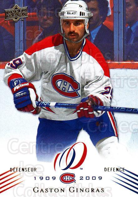 2008-09 Upper Deck Montreal Canadiens Centennial #100 Gaston Gingras<br/>1 In Stock - $2.00 each - <a href=https://centericecollectibles.foxycart.com/cart?name=2008-09%20Upper%20Deck%20Montreal%20Canadiens%20Centennial%20%23100%20Gaston%20Gingras...&quantity_max=1&price=$2.00&code=483041 class=foxycart> Buy it now! </a>