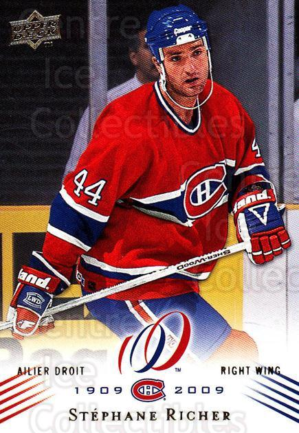 2008-09 Upper Deck Montreal Canadiens Centennial #127 Stephane Richer<br/>3 In Stock - $2.00 each - <a href=https://centericecollectibles.foxycart.com/cart?name=2008-09%20Upper%20Deck%20Montreal%20Canadiens%20Centennial%20%23127%20Stephane%20Richer...&quantity_max=3&price=$2.00&code=483068 class=foxycart> Buy it now! </a>
