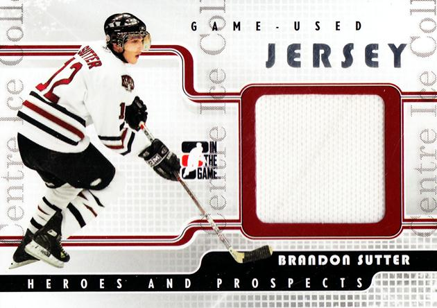 2008-09 ITG Heroes and Prospects Jersey Silver #14 Brandon Sutter<br/>2 In Stock - $5.00 each - <a href=https://centericecollectibles.foxycart.com/cart?name=2008-09%20ITG%20Heroes%20and%20Prospects%20Jersey%20Silver%20%2314%20Brandon%20Sutter...&price=$5.00&code=483334 class=foxycart> Buy it now! </a>