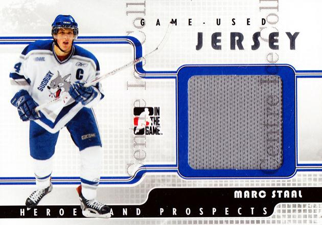 2008-09 ITG Heroes and Prospects Jersey Silver #28 Marc Staal<br/>1 In Stock - $5.00 each - <a href=https://centericecollectibles.foxycart.com/cart?name=2008-09%20ITG%20Heroes%20and%20Prospects%20Jersey%20Silver%20%2328%20Marc%20Staal...&quantity_max=1&price=$5.00&code=483348 class=foxycart> Buy it now! </a>