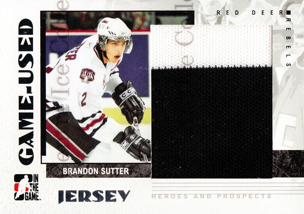 2007-08 ITG Heroes and Prospects Jersey #6 Brandon Sutter<br/>2 In Stock - $5.00 each - <a href=https://centericecollectibles.foxycart.com/cart?name=2007-08%20ITG%20Heroes%20and%20Prospects%20Jersey%20%236%20Brandon%20Sutter...&price=$5.00&code=483416 class=foxycart> Buy it now! </a>