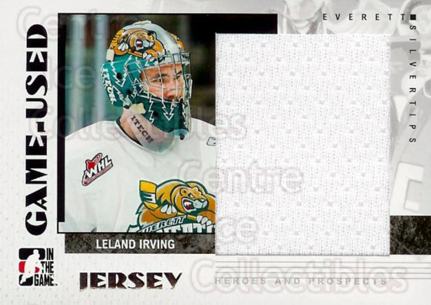 2007-08 ITG Heroes and Prospects Jersey #11 Leland Irving<br/>2 In Stock - $5.00 each - <a href=https://centericecollectibles.foxycart.com/cart?name=2007-08%20ITG%20Heroes%20and%20Prospects%20Jersey%20%2311%20Leland%20Irving...&quantity_max=2&price=$5.00&code=483421 class=foxycart> Buy it now! </a>