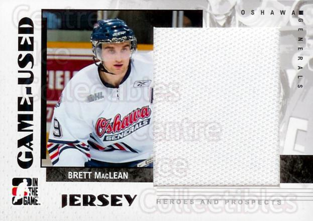 2007-08 ITG Heroes and Prospects Jersey #67 Brett MacLean<br/>5 In Stock - $5.00 each - <a href=https://centericecollectibles.foxycart.com/cart?name=2007-08%20ITG%20Heroes%20and%20Prospects%20Jersey%20%2367%20Brett%20MacLean...&quantity_max=5&price=$5.00&code=483477 class=foxycart> Buy it now! </a>