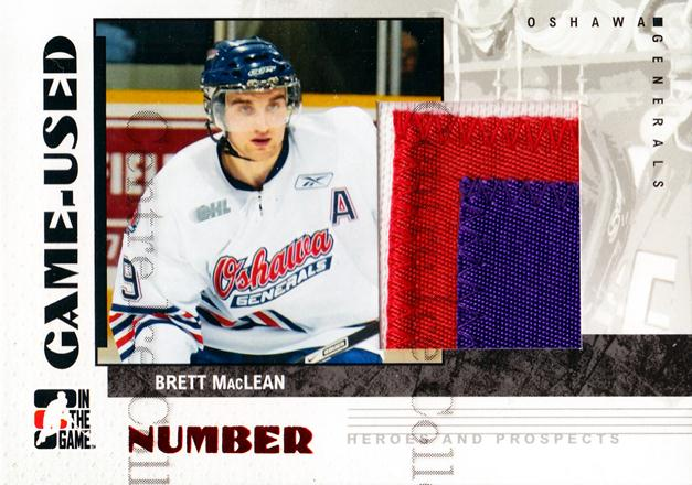 2007-08 ITG Heroes and Prospects Number #67 Brett MacLean<br/>2 In Stock - $10.00 each - <a href=https://centericecollectibles.foxycart.com/cart?name=2007-08%20ITG%20Heroes%20and%20Prospects%20Number%20%2367%20Brett%20MacLean...&quantity_max=2&price=$10.00&code=483615 class=foxycart> Buy it now! </a>