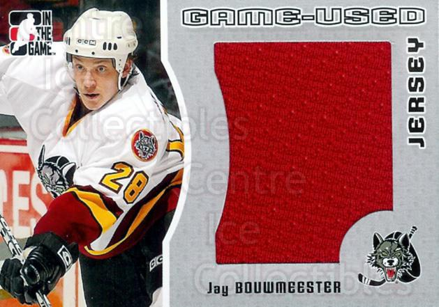 2005-06 ITG Heroes and Prospects Jersey Silver #3 Jay Bouwmeester<br/>1 In Stock - $5.00 each - <a href=https://centericecollectibles.foxycart.com/cart?name=2005-06%20ITG%20Heroes%20and%20Prospects%20Jersey%20Silver%20%233%20Jay%20Bouwmeester...&quantity_max=1&price=$5.00&code=483665 class=foxycart> Buy it now! </a>