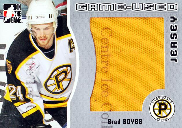 2005-06 ITG Heroes and Prospects Jersey Silver #9 Brad Boyes<br/>2 In Stock - $5.00 each - <a href=https://centericecollectibles.foxycart.com/cart?name=2005-06%20ITG%20Heroes%20and%20Prospects%20Jersey%20Silver%20%239%20Brad%20Boyes...&quantity_max=2&price=$5.00&code=483671 class=foxycart> Buy it now! </a>