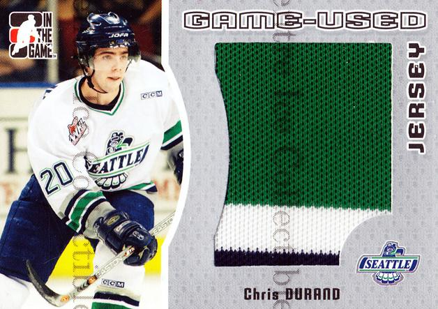 2005-06 ITG Heroes and Prospects Jersey Silver #27 Chris Durand<br/>1 In Stock - $5.00 each - <a href=https://centericecollectibles.foxycart.com/cart?name=2005-06%20ITG%20Heroes%20and%20Prospects%20Jersey%20Silver%20%2327%20Chris%20Durand...&price=$5.00&code=483689 class=foxycart> Buy it now! </a>