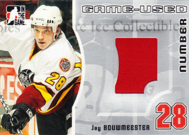 2005-06 ITG Heroes and Prospects Number Silver #3 Jay Bouwmeester<br/>1 In Stock - $10.00 each - <a href=https://centericecollectibles.foxycart.com/cart?name=2005-06%20ITG%20Heroes%20and%20Prospects%20Number%20Silver%20%233%20Jay%20Bouwmeester...&quantity_max=1&price=$10.00&code=483781 class=foxycart> Buy it now! </a>