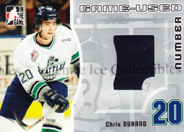 2005-06 ITG Heroes and Prospects Number Silver #27 Chris Durand<br/>3 In Stock - $10.00 each - <a href=https://centericecollectibles.foxycart.com/cart?name=2005-06%20ITG%20Heroes%20and%20Prospects%20Number%20Silver%20%2327%20Chris%20Durand...&price=$10.00&code=483805 class=foxycart> Buy it now! </a>