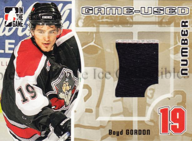 2005-06 ITG Heroes and Prospects Number Gold #8 Boyd Gordon<br/>1 In Stock - $15.00 each - <a href=https://centericecollectibles.foxycart.com/cart?name=2005-06%20ITG%20Heroes%20and%20Prospects%20Number%20Gold%20%238%20Boyd%20Gordon...&price=$15.00&code=483904 class=foxycart> Buy it now! </a>