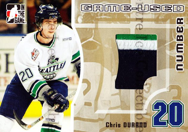 2005-06 ITG Heroes and Prospects Number Gold #27 Chris Durand<br/>2 In Stock - $15.00 each - <a href=https://centericecollectibles.foxycart.com/cart?name=2005-06%20ITG%20Heroes%20and%20Prospects%20Number%20Gold%20%2327%20Chris%20Durand...&price=$15.00&code=483923 class=foxycart> Buy it now! </a>