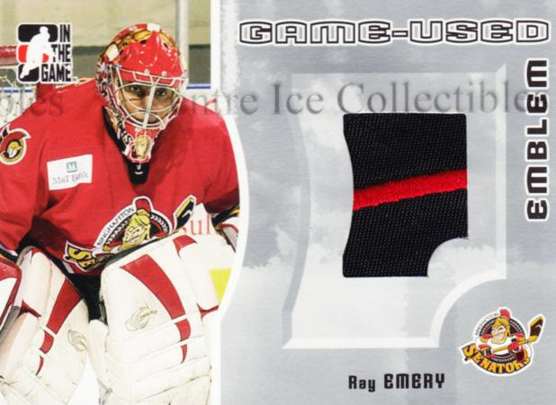 2005-06 ITG Heroes and Prospects Emblem Silver #19 Ray Emery<br/>1 In Stock - $10.00 each - <a href=https://centericecollectibles.foxycart.com/cart?name=2005-06%20ITG%20Heroes%20and%20Prospects%20Emblem%20Silver%20%2319%20Ray%20Emery...&quantity_max=1&price=$10.00&code=484016 class=foxycart> Buy it now! </a>