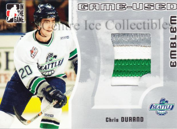 2005-06 ITG Heroes and Prospects Emblem Silver #27 Chris Durand<br/>1 In Stock - $10.00 each - <a href=https://centericecollectibles.foxycart.com/cart?name=2005-06%20ITG%20Heroes%20and%20Prospects%20Emblem%20Silver%20%2327%20Chris%20Durand...&price=$10.00&code=484024 class=foxycart> Buy it now! </a>