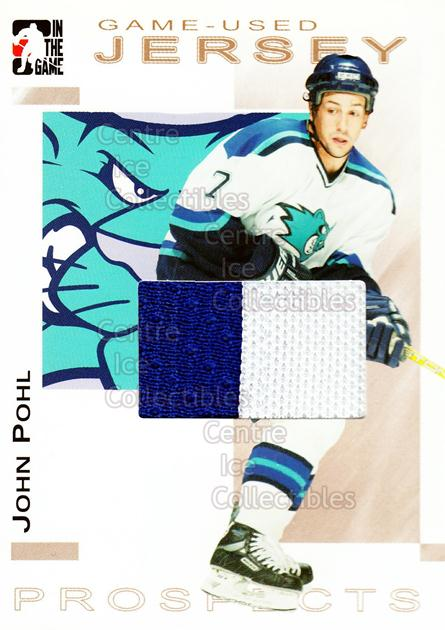 2004-05 ITG Heroes and Prospects Jersey Gold #28 John Pohl<br/>1 In Stock - $15.00 each - <a href=https://centericecollectibles.foxycart.com/cart?name=2004-05%20ITG%20Heroes%20and%20Prospects%20Jersey%20Gold%20%2328%20John%20Pohl...&quantity_max=1&price=$15.00&code=484547 class=foxycart> Buy it now! </a>