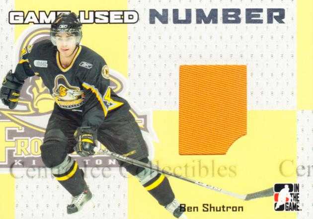 2006-07 ITG Heroes and Prospects Number Silver #44 Ben Shutron<br/>2 In Stock - $10.00 each - <a href=https://centericecollectibles.foxycart.com/cart?name=2006-07%20ITG%20Heroes%20and%20Prospects%20Number%20Silver%20%2344%20Ben%20Shutron...&price=$10.00&code=484926 class=foxycart> Buy it now! </a>