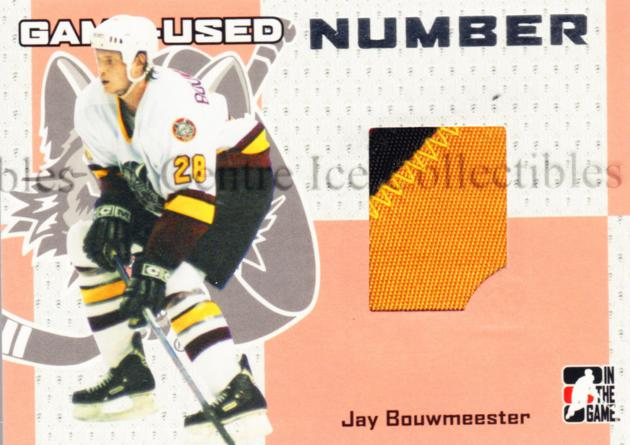 2006-07 ITG Heroes and Prospects Number Silver #60 Jay Bouwmeester<br/>1 In Stock - $10.00 each - <a href=https://centericecollectibles.foxycart.com/cart?name=2006-07%20ITG%20Heroes%20and%20Prospects%20Number%20Silver%20%2360%20Jay%20Bouwmeester...&quantity_max=1&price=$10.00&code=484976 class=foxycart> Buy it now! </a>