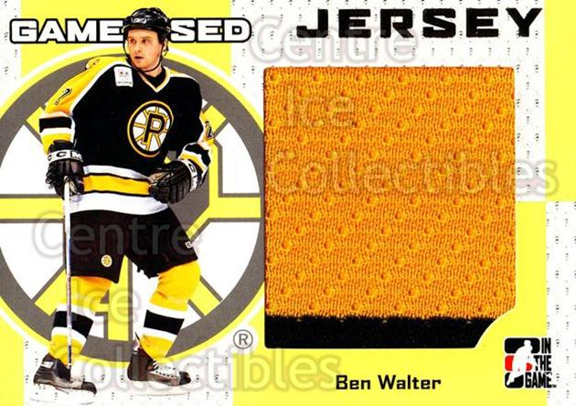 2006-07 ITG Heroes and Prospects Jersey Gold #56 Ben Walter<br/>1 In Stock - $15.00 each - <a href=https://centericecollectibles.foxycart.com/cart?name=2006-07%20ITG%20Heroes%20and%20Prospects%20Jersey%20Gold%20%2356%20Ben%20Walter...&price=$15.00&code=484993 class=foxycart> Buy it now! </a>