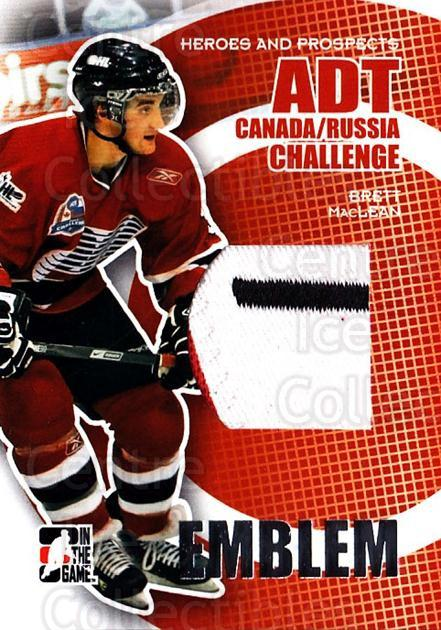 2008-09 ITG Heroes and Prospects Canada Russia Emblem Silver #8 Brett MacLean<br/>1 In Stock - $10.00 each - <a href=https://centericecollectibles.foxycart.com/cart?name=2008-09%20ITG%20Heroes%20and%20Prospects%20Canada%20Russia%20Emblem%20Silver%20%238%20Brett%20MacLean...&quantity_max=1&price=$10.00&code=485106 class=foxycart> Buy it now! </a>