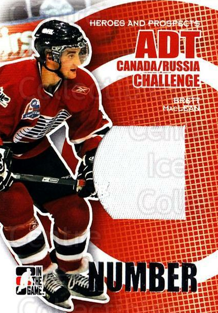 2008-09 ITG Heroes and Prospects Canada Russia Number Silver #8 Brett MacLean<br/>1 In Stock - $10.00 each - <a href=https://centericecollectibles.foxycart.com/cart?name=2008-09%20ITG%20Heroes%20and%20Prospects%20Canada%20Russia%20Number%20Silver%20%238%20Brett%20MacLean...&quantity_max=1&price=$10.00&code=485114 class=foxycart> Buy it now! </a>