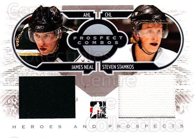 2008-09 ITG Heroes and Prospects Prospects Combos Silver #2 James Neal, Steven Stamkos<br/>1 In Stock - $10.00 each - <a href=https://centericecollectibles.foxycart.com/cart?name=2008-09%20ITG%20Heroes%20and%20Prospects%20Prospects%20Combos%20Silver%20%232%20James%20Neal,%20Ste...&price=$10.00&code=485128 class=foxycart> Buy it now! </a>
